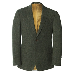 Magee 1866 Green Salt & Pepper Handwoven Donegal Tweed Blazer