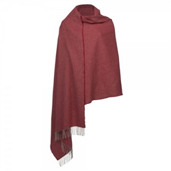 Magee Clothing Grey and Red Herringbone Large Pashmina