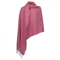 Magee Clothing Pink and Camel Herringbone Large Pashmina