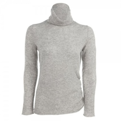 Magee Clothing Grey Cashmere Roll Neck Jumper