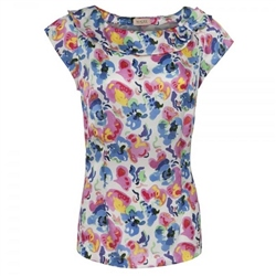 Magee Clothing Liberty Print Floral Silk Top