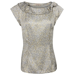 Magee Clothing Grey Liberty Print Rain Forest Silk Top