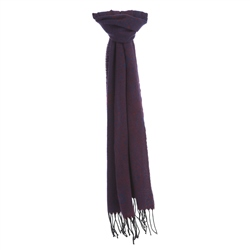 Magee Clothing Burgundy & Navy Cashmere & Wool Scarf