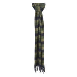 Magee Clothing Navy, Green and Camel Cashmere Scarf