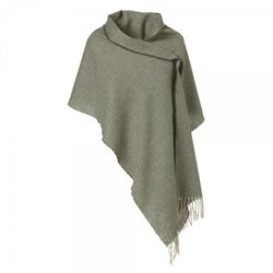 Magee Clothing Green & Cream Herringbone Small Pashmina
