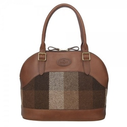 Magee Clothing Brown Tweed Patchwork and Leather Bag
