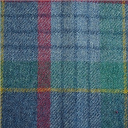 Magee Clothing Blue, Green and Red Check Donegal Tweed
