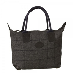 Magee Clothing Grey and Navy Donegal Tweed Tote Bag