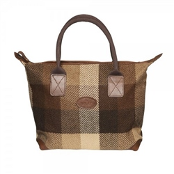 Magee Clothing Brown Patchwork Tweed Tote Bag