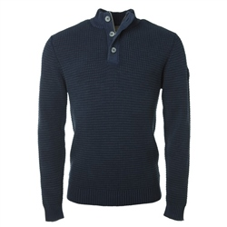 Magee Clothing Chunky Navy Cotton 1/4 Zip Jumper