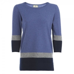 Magee Clothing Lavender Colour Block Cashmere Jumper
