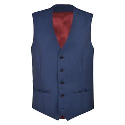 Magee 1866 Cobalt Blue Travel Mix & Match 3 Piece Waistcoat