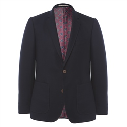 Magee Clothing Navy Wool & Cashmere Patch Pocket Blazer