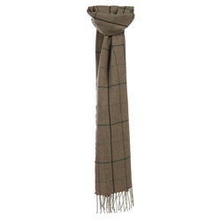 Magee 1866 Goffs Collaboration - Camel Herringbone Tattersall Scarf