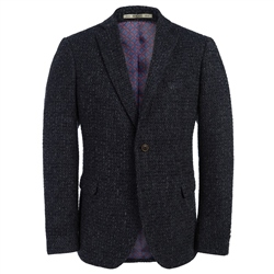 Magee Clothing Charcoal and Navy Unstructured Wool Tailored Fit Blazer