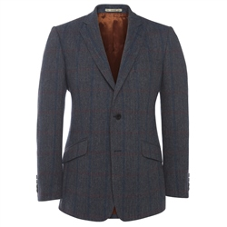 Magee Clothing Red & Blue Country Check Tweed Blazer