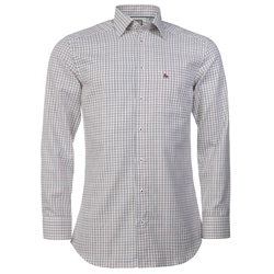 Magee Clothing Red, Blue & White Check Shirt