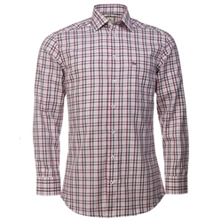Magee Clothing Red, White & Black Check Shirt