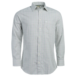 Magee Clothing Green, Pink & White Check Regular Fit Shirt