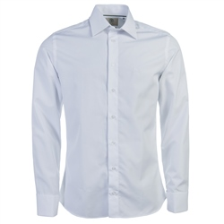 Magee Clothing White Double Cuff Tailored Fit Shirt
