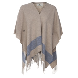 Magee Clothing Camel & Blue Donegal Tweed Eske Cape