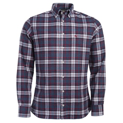 Magee Clothing Navy, White & Red Button Down Checked Shirt