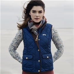 Magee Clothing Goffs Collaboration - Navy Quilted Gilet