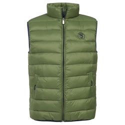 Magee Clothing Goffs Collaboration Green & Navy Quilted Gilet