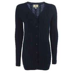 Magee Clothing Navy Boyfriend Cashmere Mix Cardigan