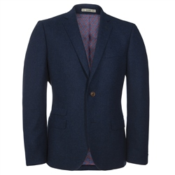 Magee 1866 Cobalt Blue Tweed 3 Piece Tailored Fit Suit
