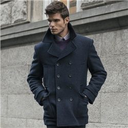 Magee Clothing Fintra Double Breasted Tweed Peacoat