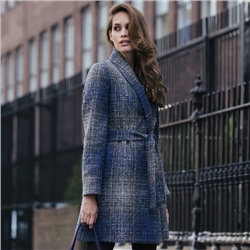 Magee Clothing Blue & Grey Clooney Cardigan Coat