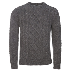 Magee Clothing Grey Diamond Lambswool Crew Neck Jumper