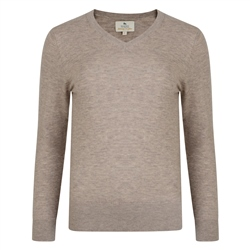 Magee 1866 Oat Merino V-Neck Ladies Jumper