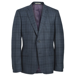 Magee Clothing Blue & Black Check Tailored Fit Suit