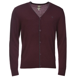 Magee Clothing Burgundy Merino Wool Cardigan