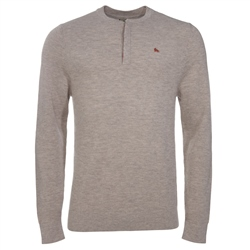 Magee Clothing Oat Merino Wool Henley Sweater
