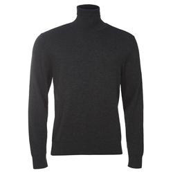 Magee Clothing Grey Merino Wool Turtle Neck Jumper