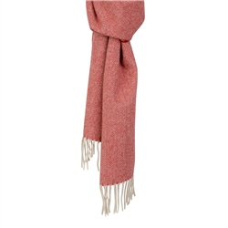 Magee 1866 Red & Cream Luxury Herringbone Scarf