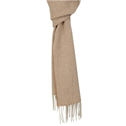 Magee 1866 Camel & Cream Luxury Herringbone Scarf