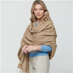 Camel & Cream Luxury Herringbone Pashmina