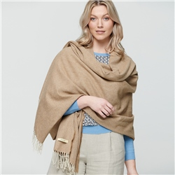 Magee 1866 Camel & Cream Luxury Herringbone Pashmina