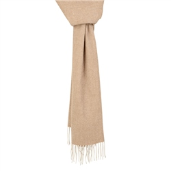 Magee Clothing Camel & Cream Herringbone Scarf