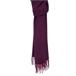 Magee 1866 Raspberry & Purple Luxury Herringbone Scarf