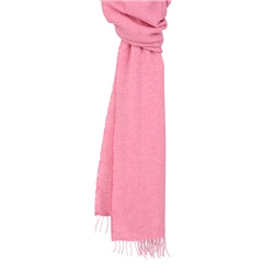 Magee 1866 Pink & Cream Luxury Herringbone Scarf
