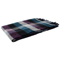 Magee Clothing Small Purple/Grey/Navy Patchwork Throw