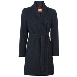 Magee Clothing Navy Clooney Tweed & Cashmere Coat