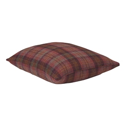 "Magee Clothing 18"" Pink & Brown Herringbone Check Tweed Cushion"