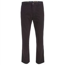 Magee Clothing Berry Washed Look Cotton Canvas Chino