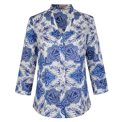 Magee Clothing Blue Floral Liberty Print Silk Tunic